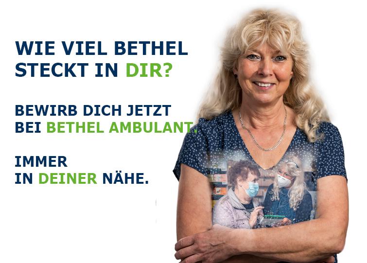 Für den ambulanten Dienst im Raum Bielefeld suchen wir Betreuungskräfte zur Unterstützung und Entlastung im Alltag zuhause. Ob gelernte Fachkraft oder Quereinsteiger, du bist in der Bethel-Familie herzlich willkommen.